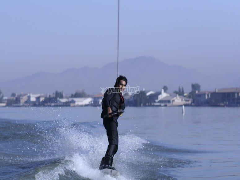 Sesión de wakeboard en Almería
