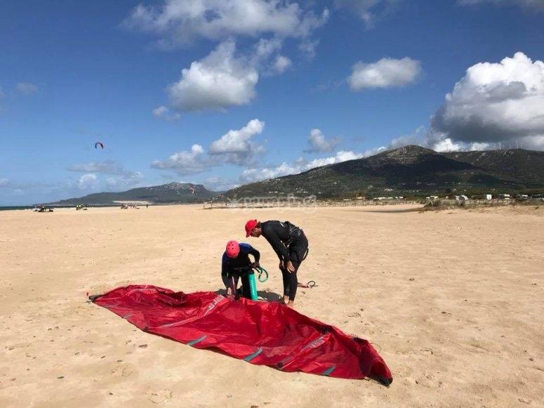 Cuida la cometa de kitesurf