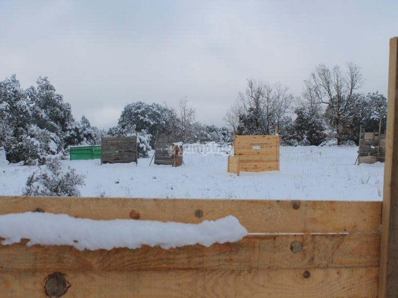 campo de paintball nevado en Cuenca