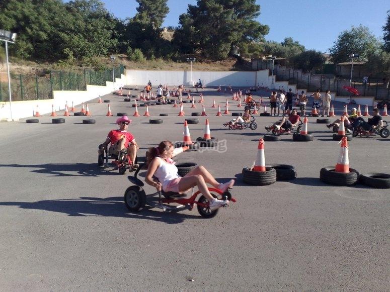 Carreras de karts a pedales