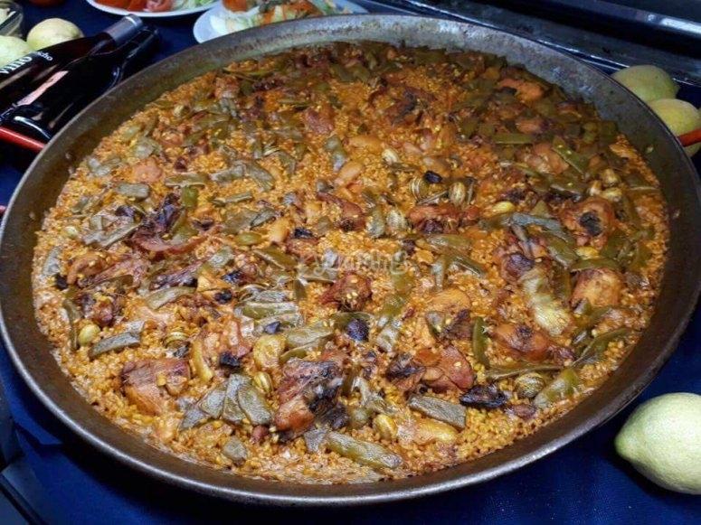 exquisita paella valenciana