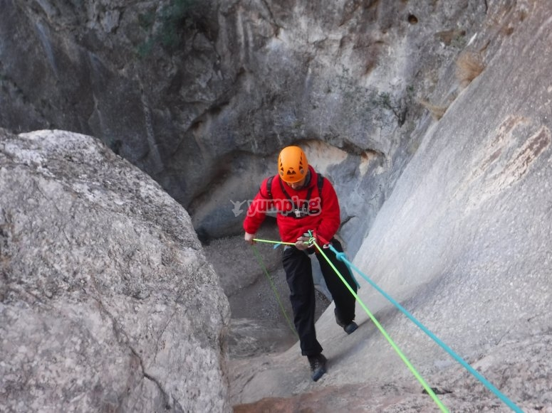 Practice via ferrata in Murcia