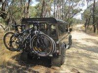 Transportando las bicis en defender