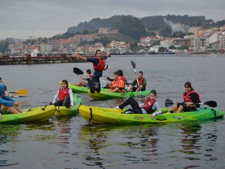 Navega por la ría en kayak