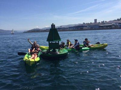Alquiler de kayak individual media jornada Moañas