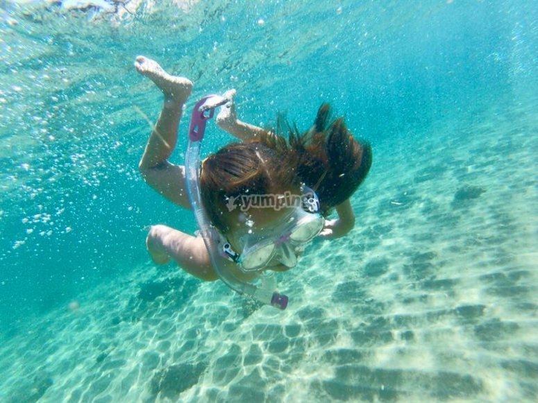 Sessione di snorkeling dal SUP
