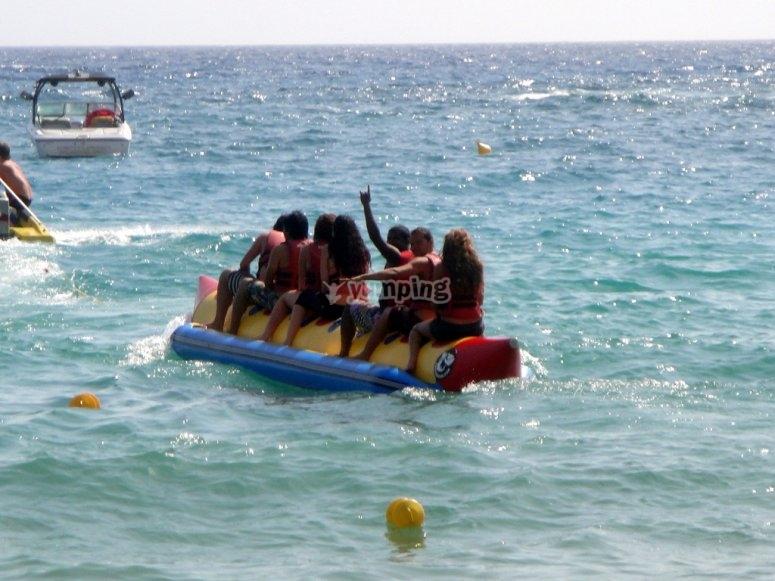Comenzando el viaje en banana boat