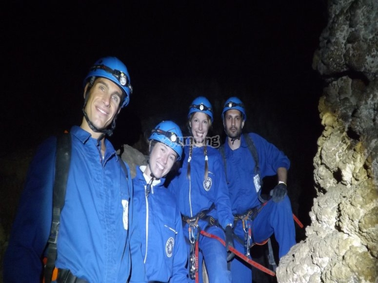 Group of speleologists