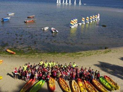 Alquiler de kayak doble media jornada en Moañas