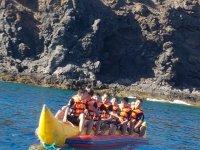 Banana boat en la costa