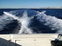 Vista de la costa na desde el barco