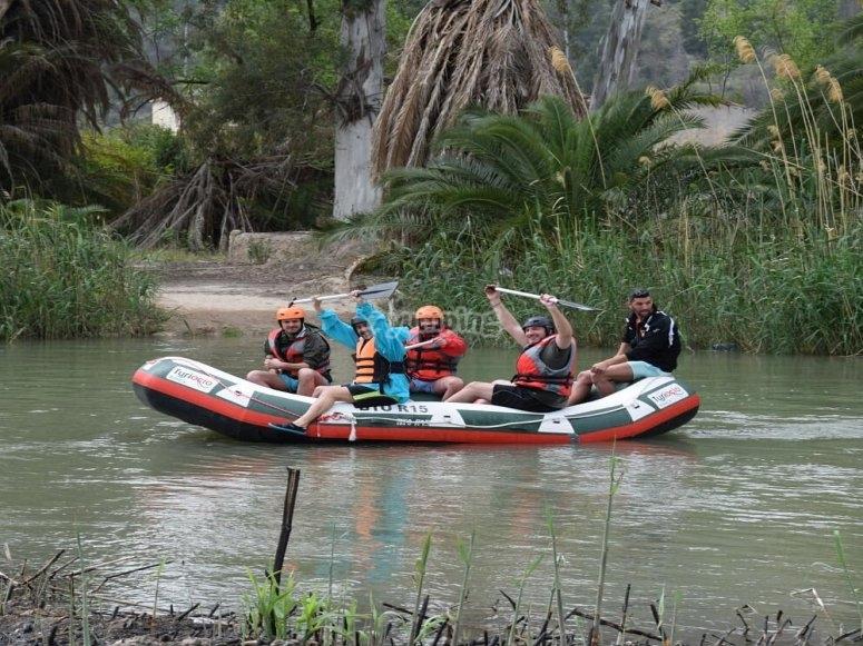 Descending the Segura with friends