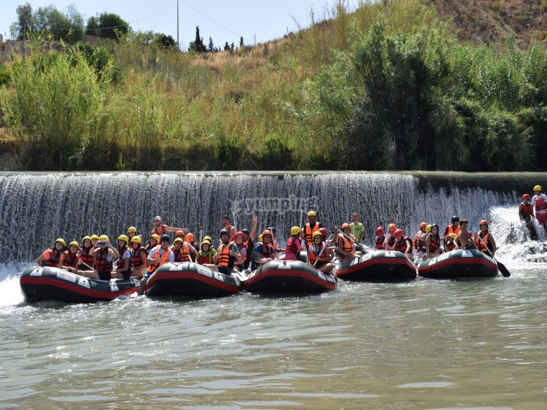 A group of rafts
