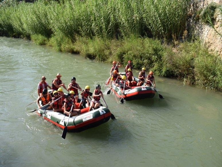 Descending trough the river