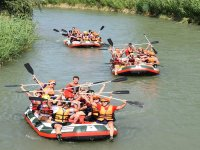A group rafting descend