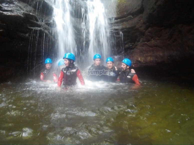 Start on water canyonig