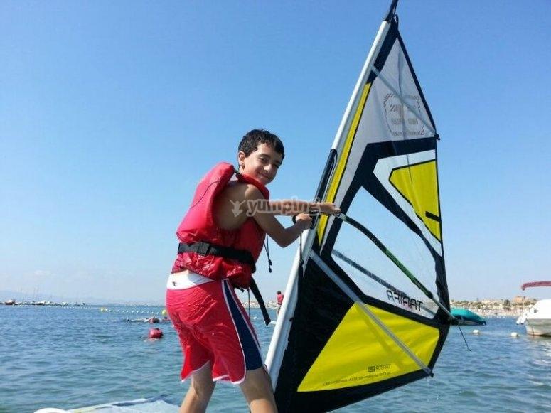 Haciendo windsurf