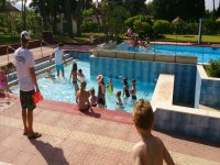 Club Camp kids in the pool