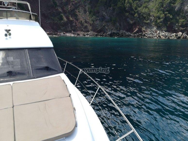 Navegando entre las islas de Mallorca