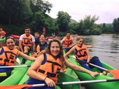 Descenso del Sella en canoa 8 o 17 km y pícnic
