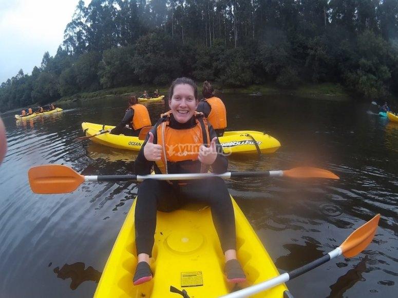 Montando en kayak