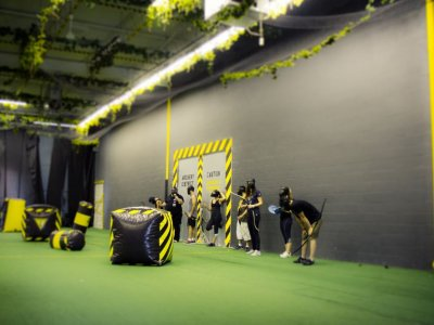 Archery tag for schools in Madrid