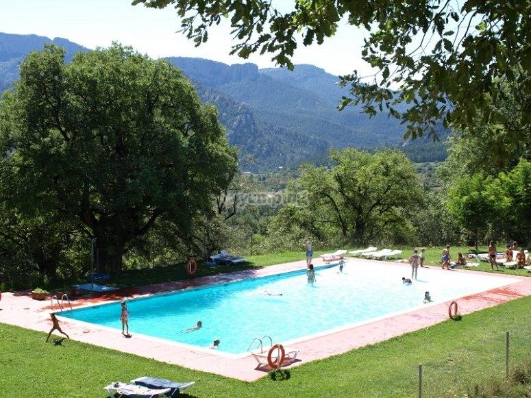 La piscina del campamento