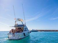 A bordo en alta mar