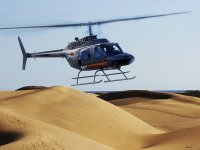 Helicopter over the dunes