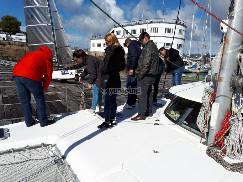 Meeting the boat