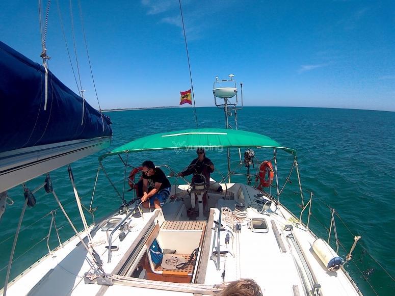Addii sulla barca a vela Huelva