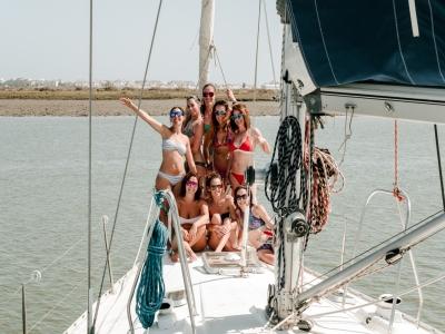 Addio al celibato in barca a vela Costa de la Luz