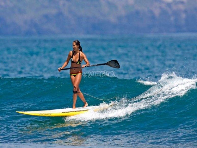 Sessione di paddle surf