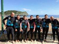 El equipo de surf