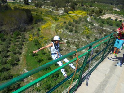 Bungee Jump from Siete Lunas bridge Alcoy