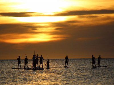 Percorso surf paddle Sunset a Ibiza 2 ore