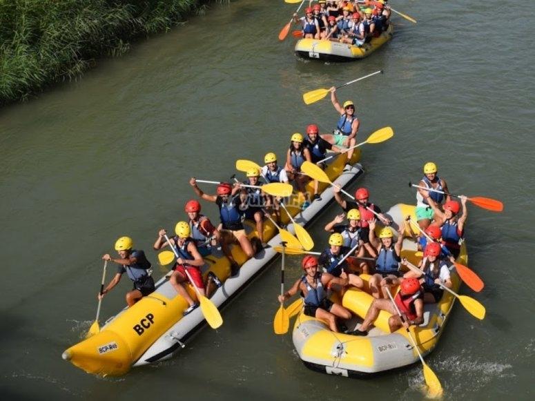 Rafting in the Segura river
