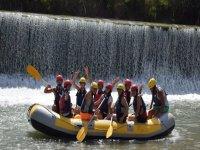 Friends rafting