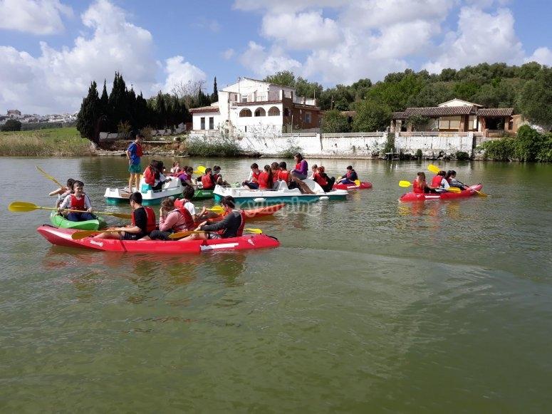 组合脚踏船和皮划艇