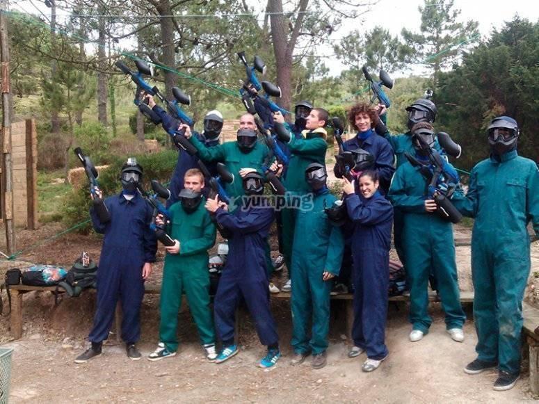 Paintball en Burgos con amigos