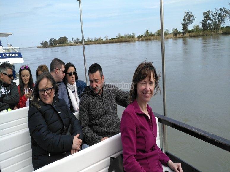 Boat trip through Delta del Ebro
