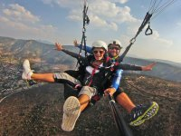 Paraglide flight