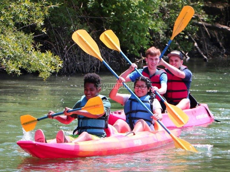 Alquiler de kayak para toda la familia