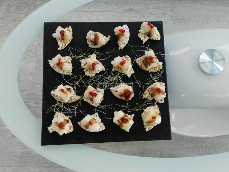 Luxurious appetizers