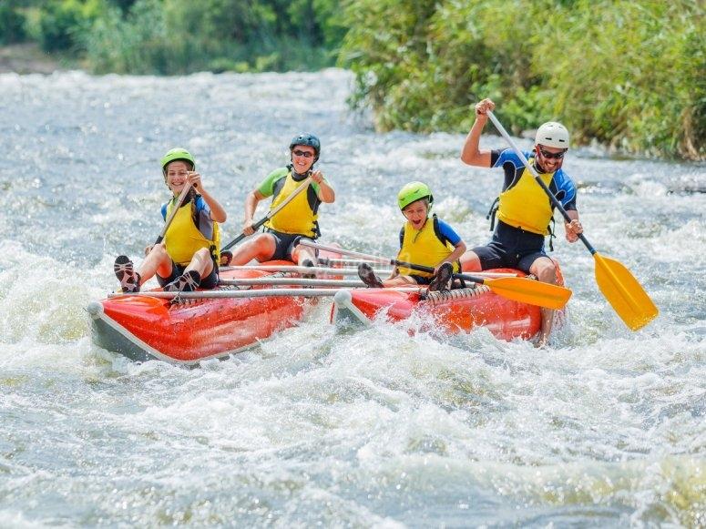 Diviertete haciendo rafting