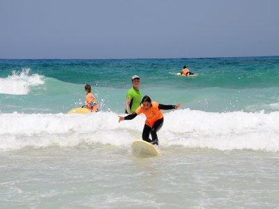 富埃特文图拉冲浪课程,1 天接送