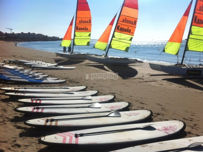 SUP and windsurf boards