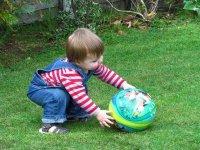 cogiendo la pelota