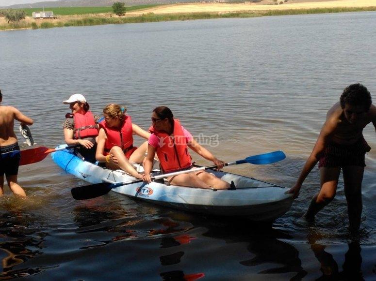 Elige un kayak triplaza