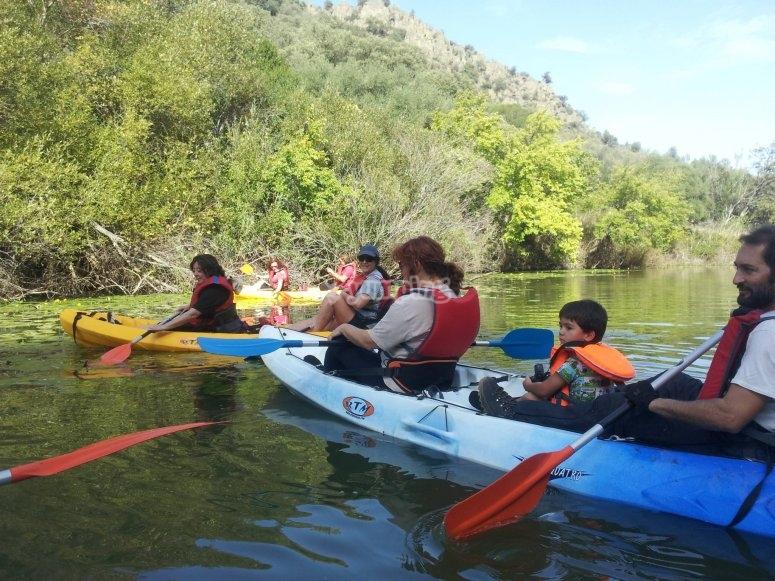 Kayak triplaza para toda la familia